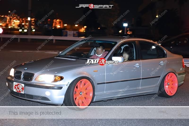 Photo of Stancenation 2016 BMW E46 silver color pinc wheel at Odaiba