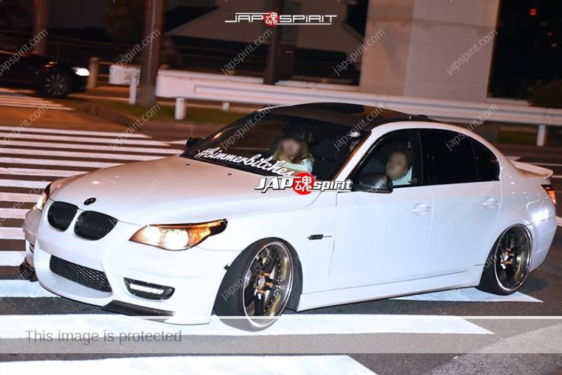 Photo of Stancenation 2016 BMW E60 hellaflush style white body at odaiba