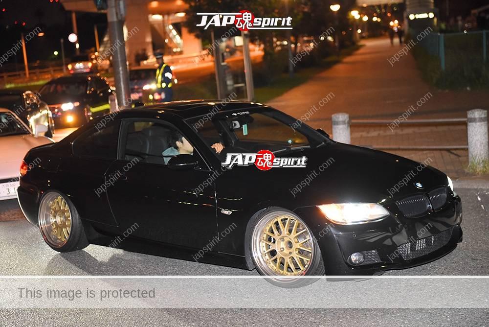 Photo of Stancenation 2016 BMW E90 black body gold wheel at odaiba