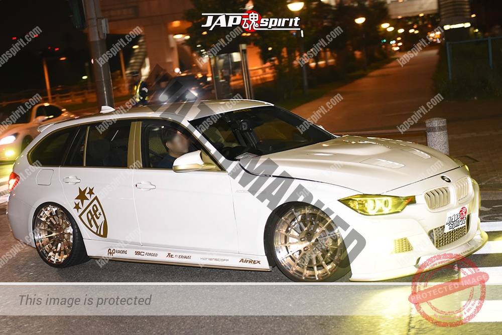Photo of Stancenation 2016 BMW F31 wagon luxury hellaflush white body gold wheel