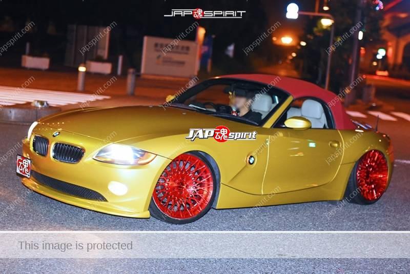 Stancenation 2016 BMW Z4 Hellaflush gold color car club dallars at odaiba 1