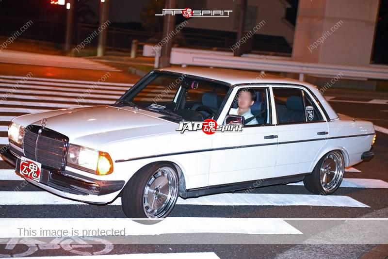 Photo of Stancenation 2016 Benz C-Class W123 white body at odaiba
