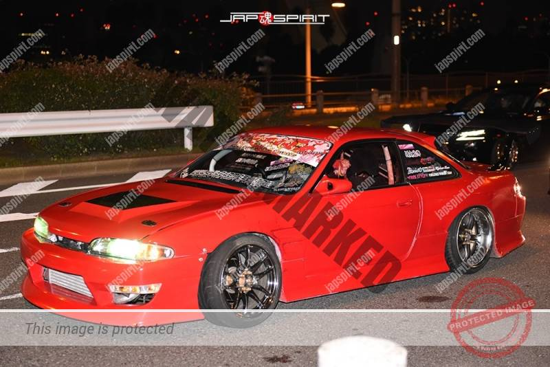 Photo of Stancenation 2016 Crazy drift car S14 silvia red with full of sticker