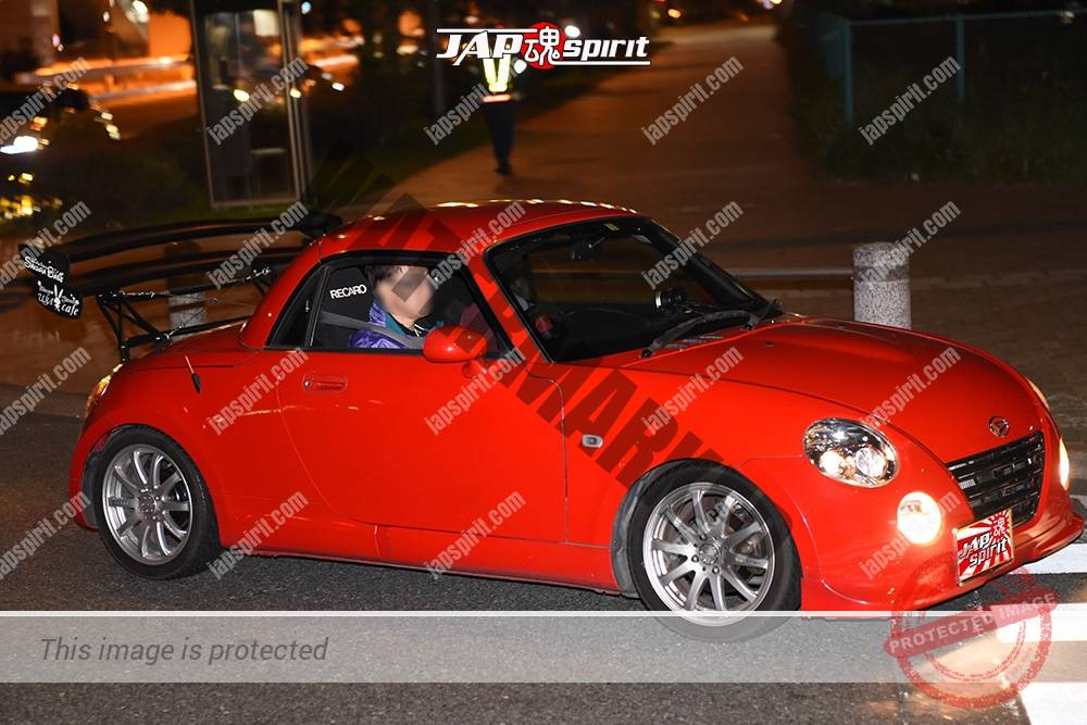 Photo of Stancenation 2016 Daihatsu Copen L880K Double GT wing red body at odaiba