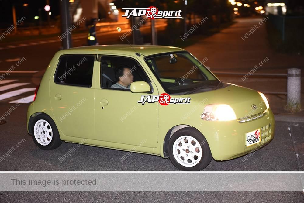 Stancenation 2016 Daihatsu Esse light green body white wheel at odaiba 1