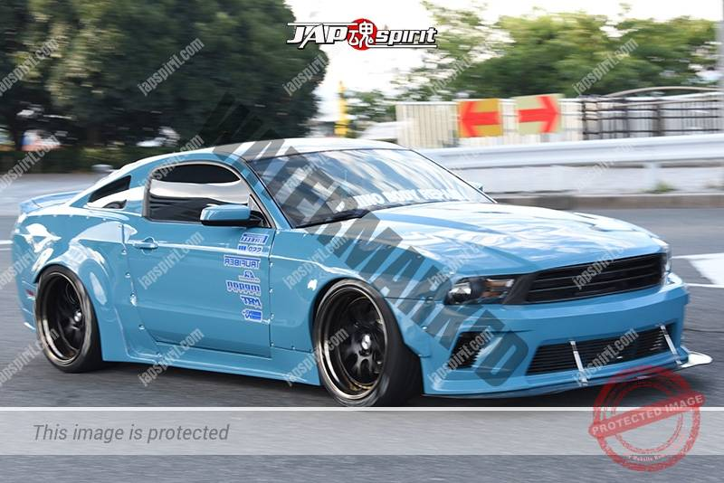 Stancenation 2016 Ford Mustang 6th Hellaflush Muscle Car Style Light Blue Body By Nishino Repair