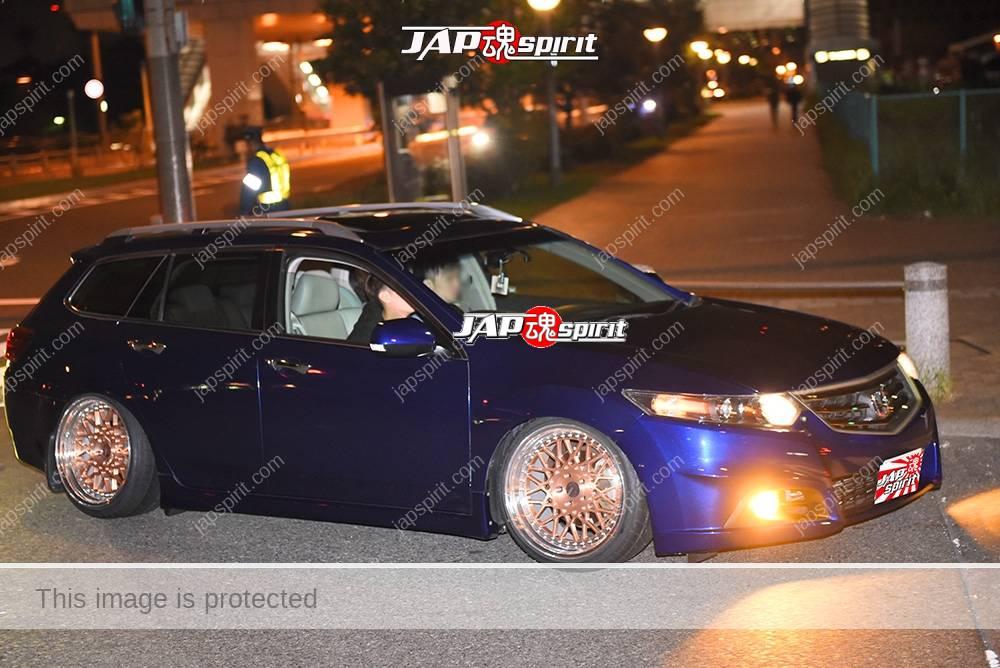Stancenation 2016 Honda Accord Tourer hellaflush blue body at odaiba 1
