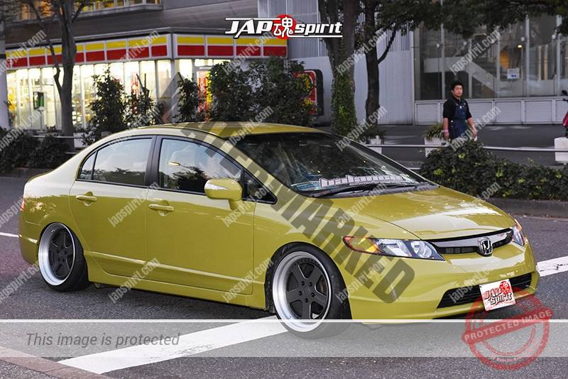Stancenation 2016 Honda Civic FA USDM hellaflush olieve body at odaiba 1