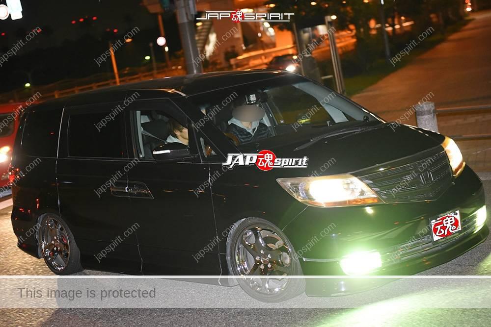 Photo of Stancenation 2016 Honda Elysion Prestage black at Odaiba