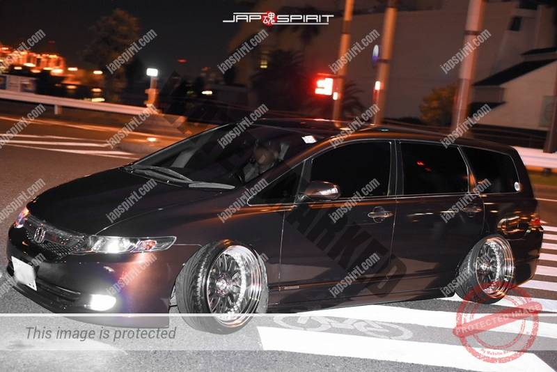 Photo of Stancenation 2016 Honda Odyssey brown color camber at Odaiba