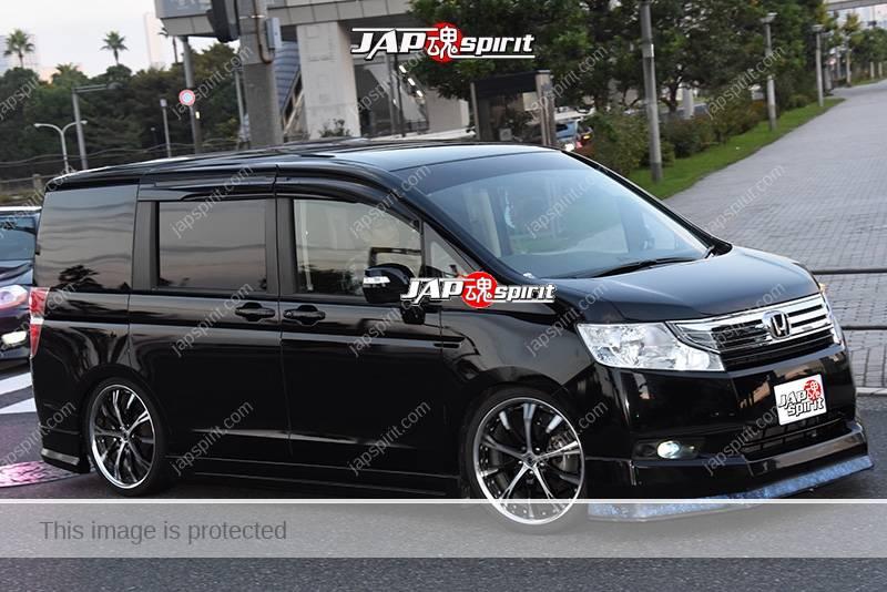 Photo of Stancenation 2016 Honda StepWGN Spada dress up black body at odaiba