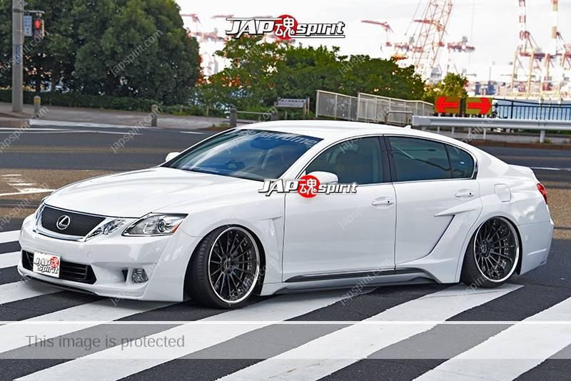 Photo of Stancenation 2016 Lexus GS S19 hellaflush VIP aero custom white body at odaiba