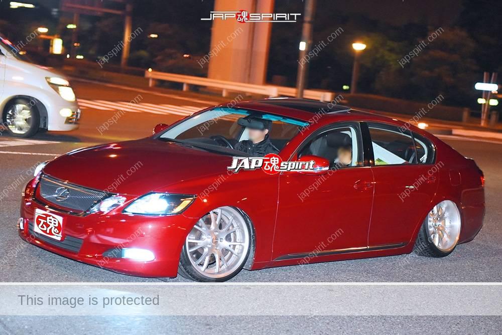 Photo of Stancenation 2016 Lexus GS s19  red hellaflush VIP style at odaiba