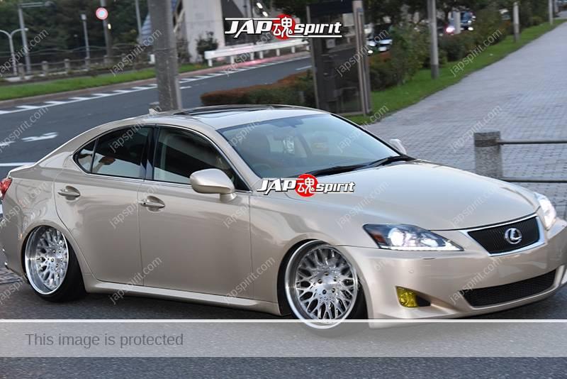 Photo of Stancenation 2016 Lexus IS GSE2 hellaflush beige body at odaiba