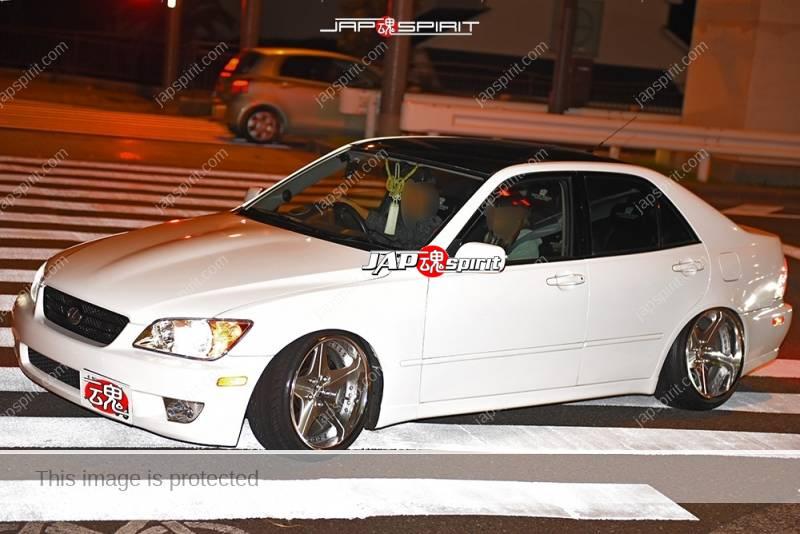 Photo of Stancenation 2016 Lexus IS hellaflush white body silver wheel at Odaiba