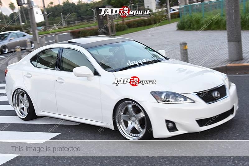 Photo of Stancenation 2016 Lexus IS hellaflush white body team Dropper at odaiba