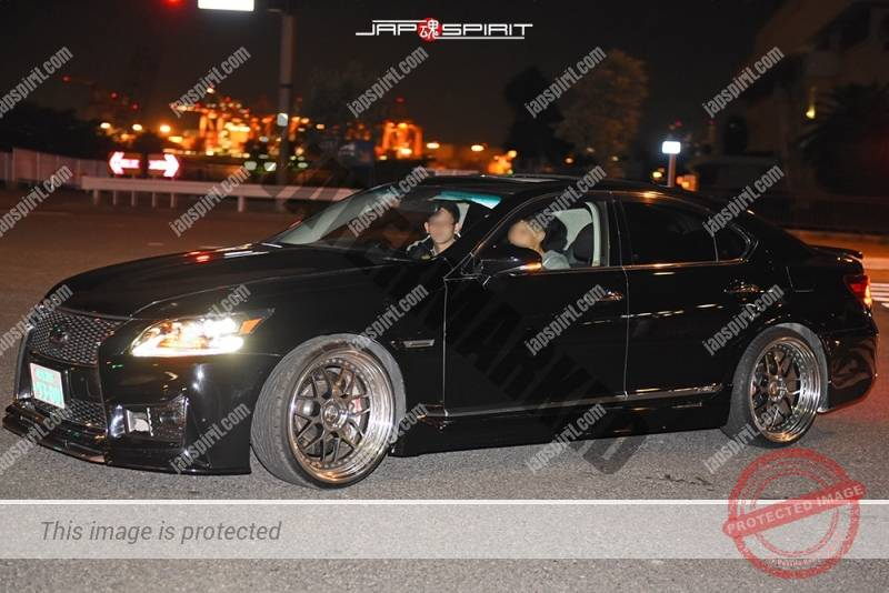 Stancenation 2016 Lexus LS F40 vip style black color at Odaiba 1