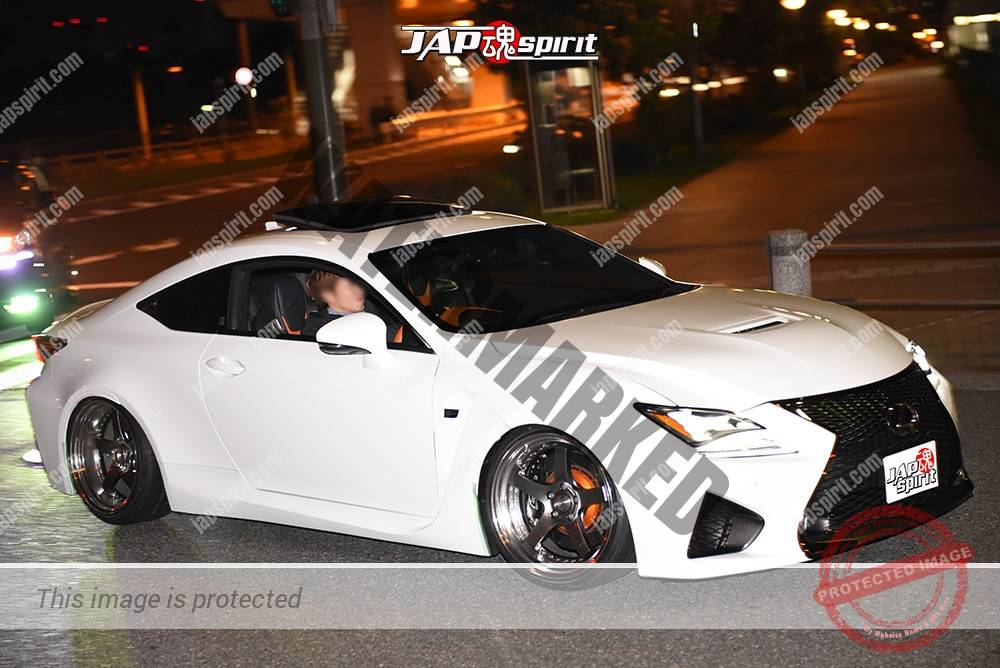 Photo of Stancenation 2016 Lexus RC hellaflush white body at odaiba