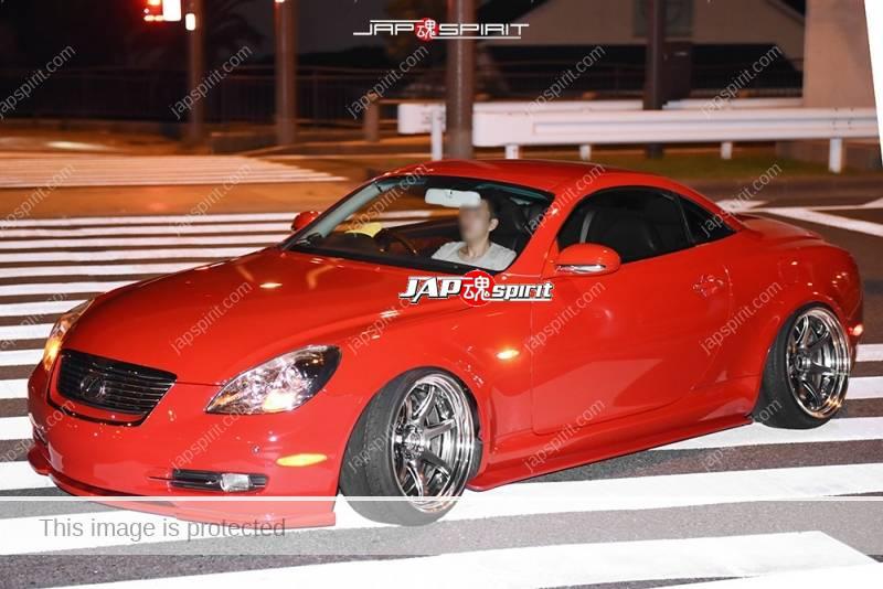 Photo of Stancenation 2016 Lexus SC hellaflush red body at odaiba