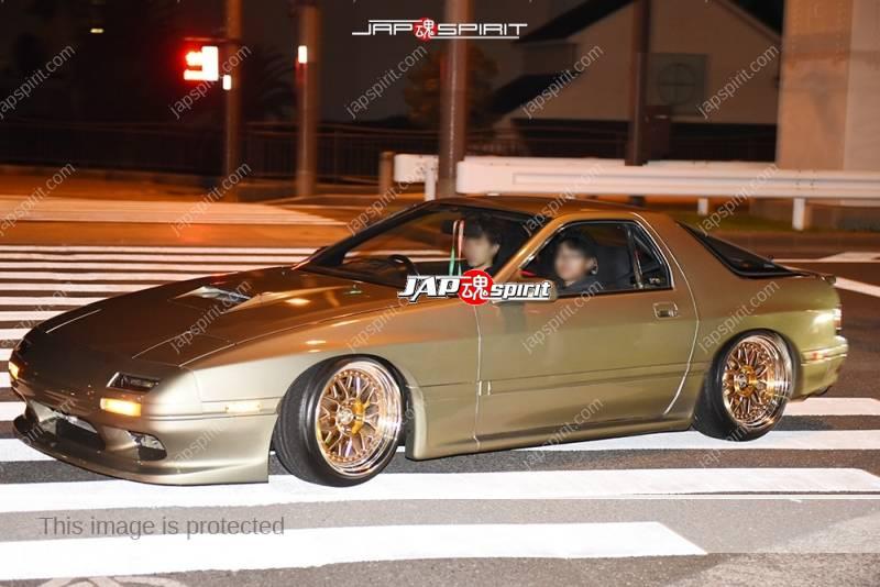 Photo of Stancenation 2016 Mazda RX7 FC hellaflush gold colar body & wheel at odaiba