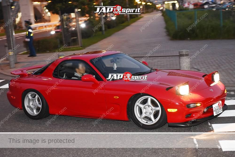 Stancenation 2016 Mazda RX7 FD hellaflush red body at odaiba 1