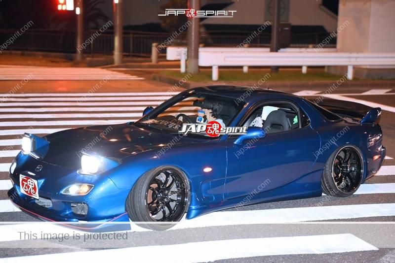 Stancenation 2016 Mazda RX7 FD spocom style blue color at Odaiba 1