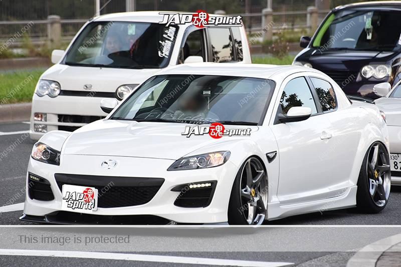 Stancenation 2016 Mazda RX8 hellaflush tsuraichi white body at odaiba 2