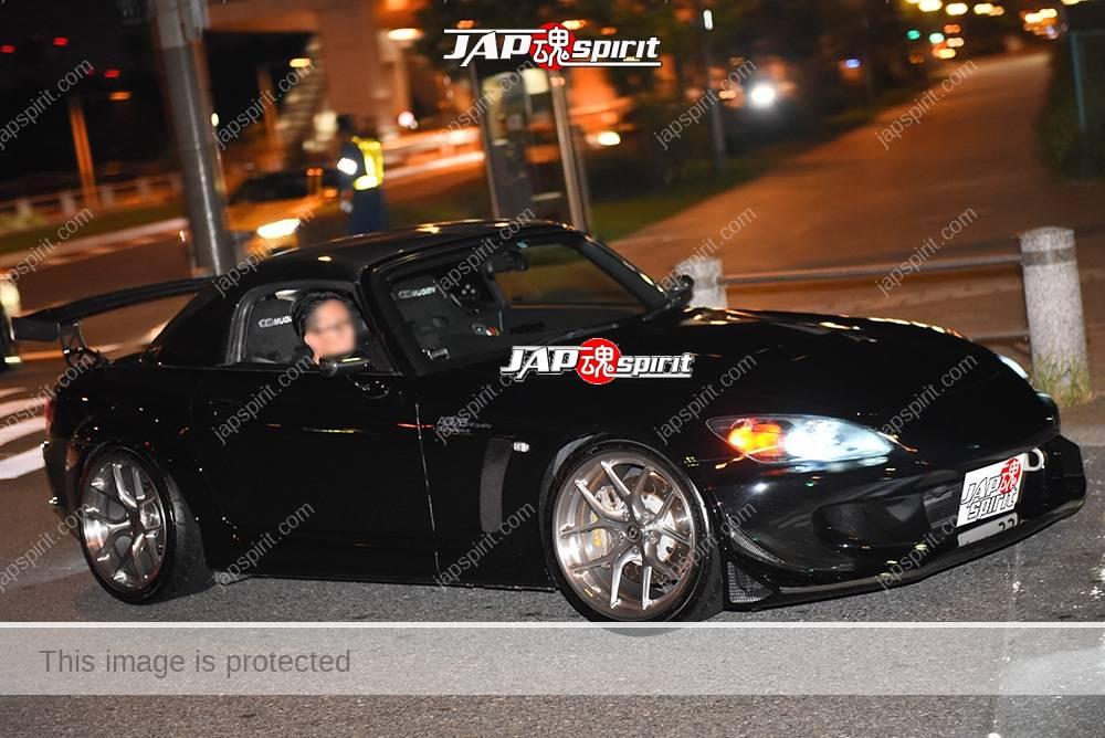 Photo of Stancenation 2016 Mazda Roadster Black body GT wing at odaiba