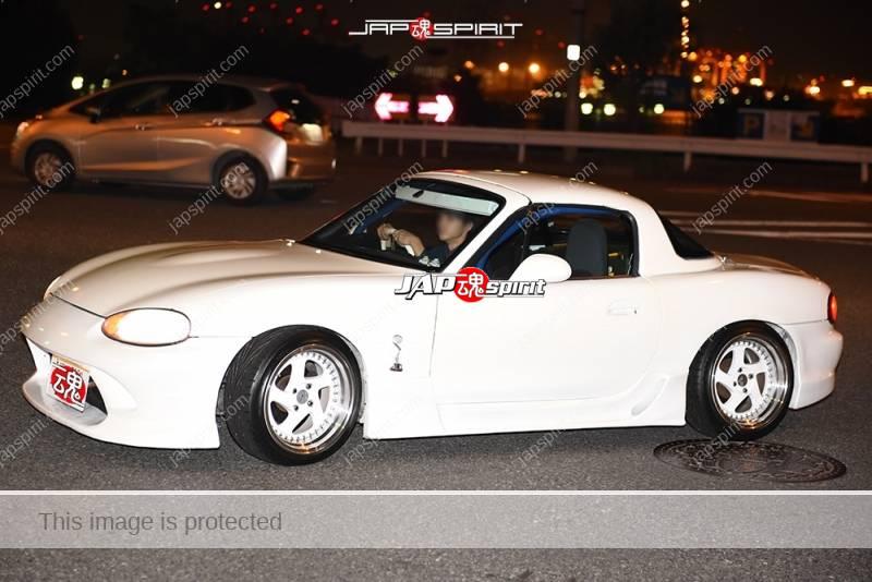 Photo of Stancenation 2016 Mazda Roadster NB hellaflush all white at Odaiba