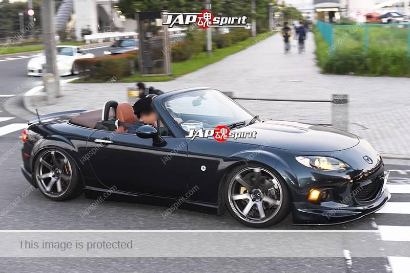 Photo of Stancenation 2016 Mazda Roadster MX-5 NC hellaflush over fender black body at odaiba
