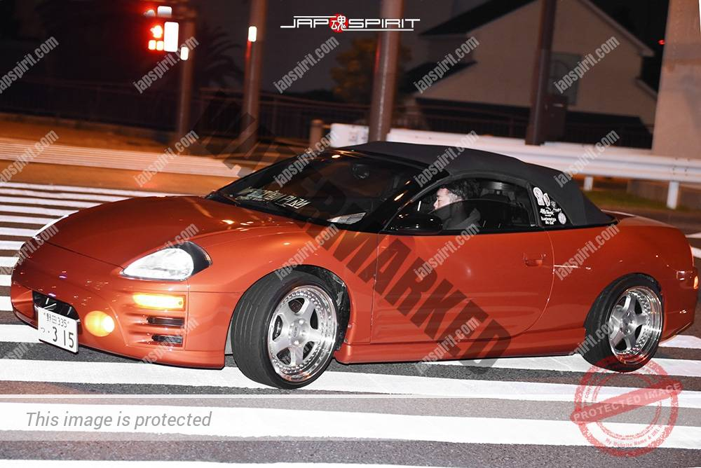 Photo of Stancenation 2016 Mitsubishi ECLIPSE 3rd convertible dark brown body at odaiba