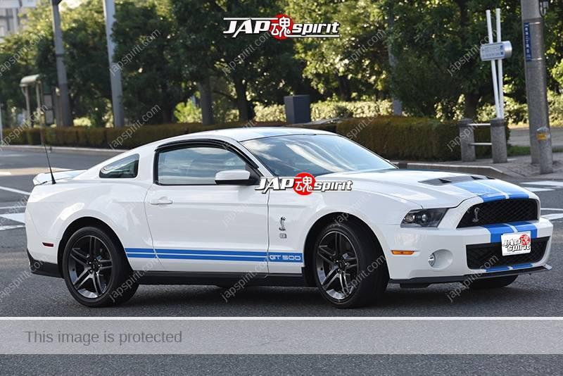 Photo of Stancenation 2016 Mustang GT500 white body black wheel blue line
