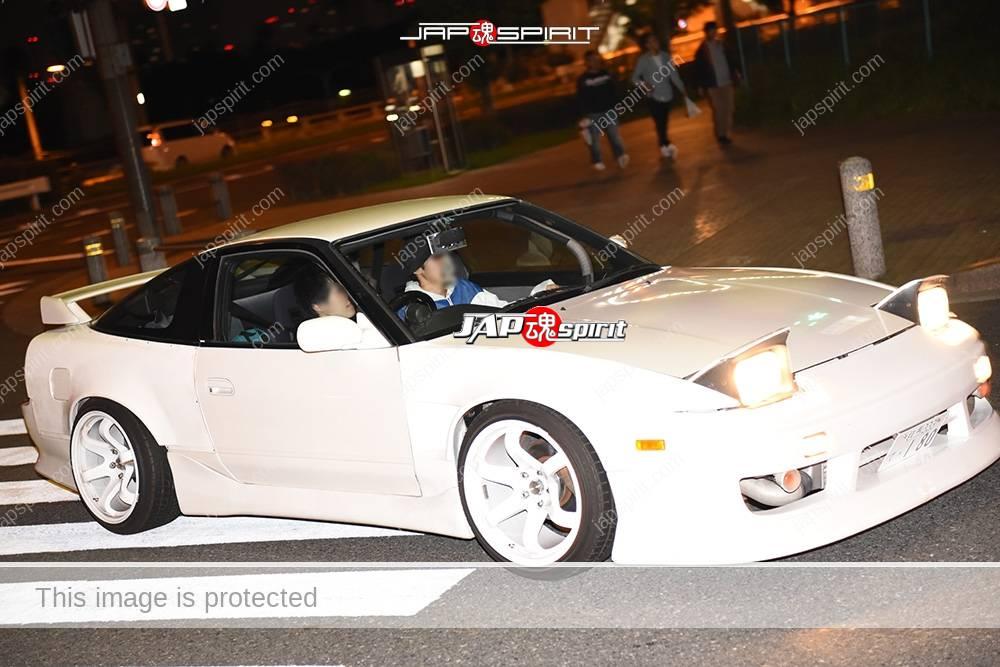 Photo of Stancenation 2016 Nissan 180 hellaflush white body white wheel at odaiba