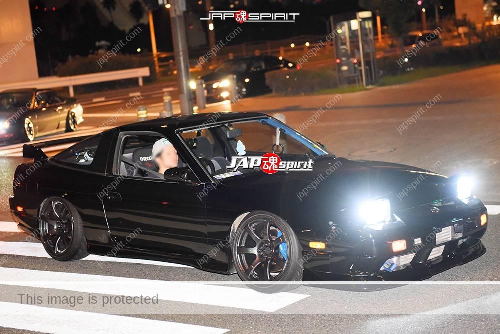 Stancenation 2016 Nissan 180 hellaflush all black color at odaiba 1