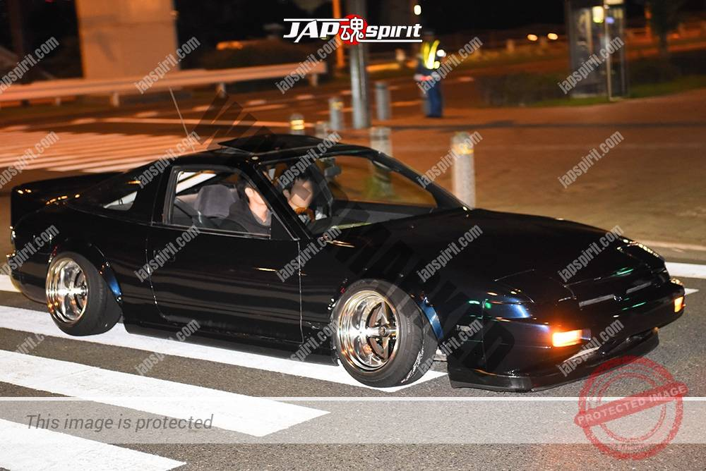 Stancenation 2016 Nissan 180 hellaflush over fender black body very low at odaiba 1