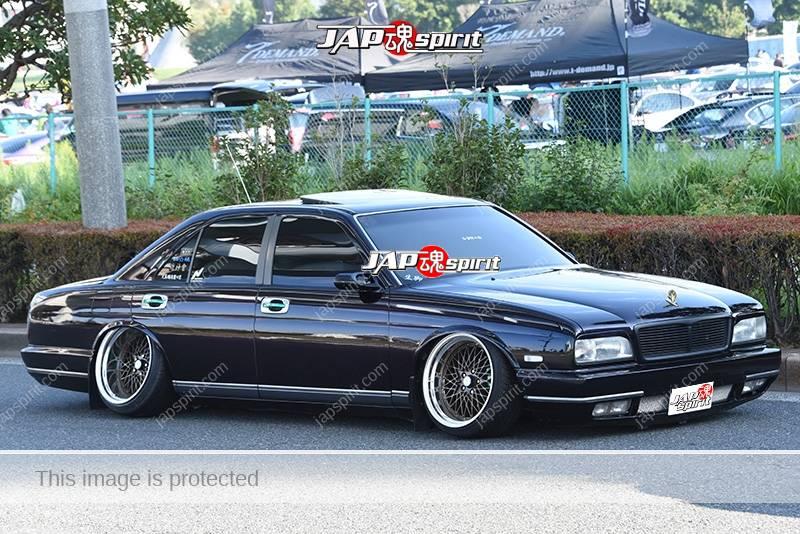 Photo of Stancenation 2016 Nissan Cima  FY32 VIP hellaflush very low tsurauchi negative camber at odaiba