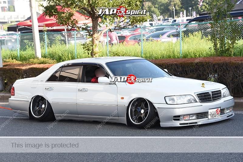 Photo of Stancenation 2016 Nissan Cima  FY33 VIP hellaflush very low tsurauchi negative camber at odaiba