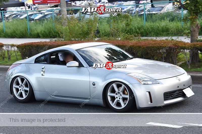 Photo of Stancenation 2016 Nissan Fairlady Z33 hellalfush silver body at odaiba