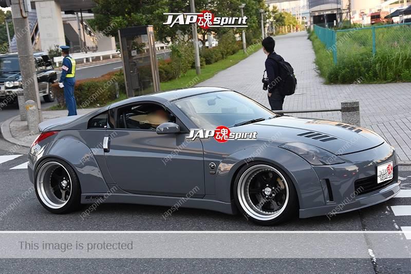 Photo of Stancenation 2016 Nissan Fairlady Z33 works fender grey body at odaiba