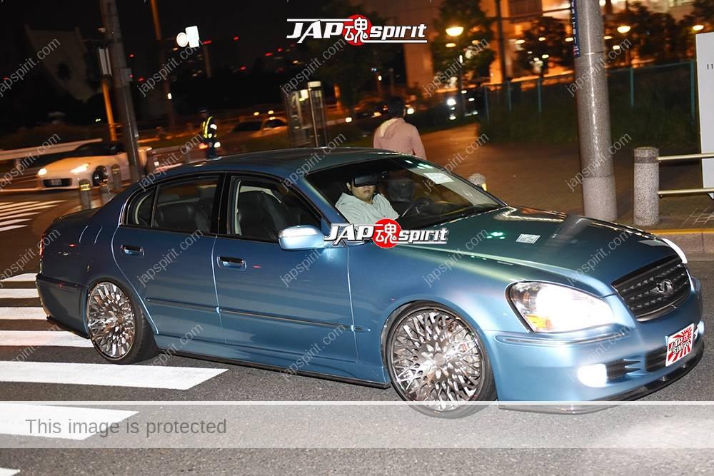 Stancenation 2016 Nissan NFINITI Q45 VIP light blue color at Odaiba 1