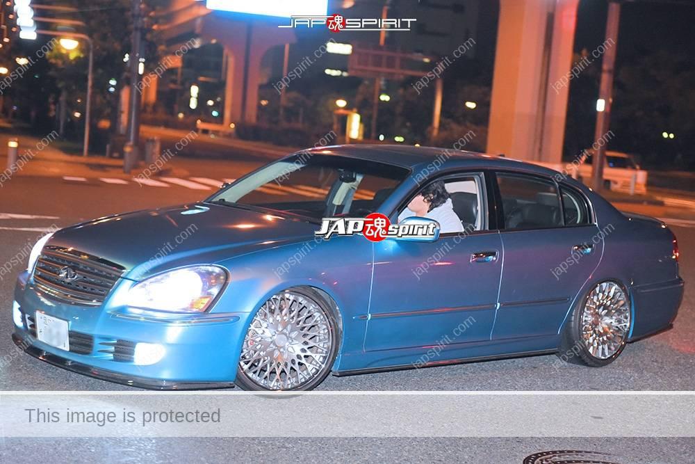 Stancenation 2016 Nissan NFINITI Q45 light blue color at Odaiba 1