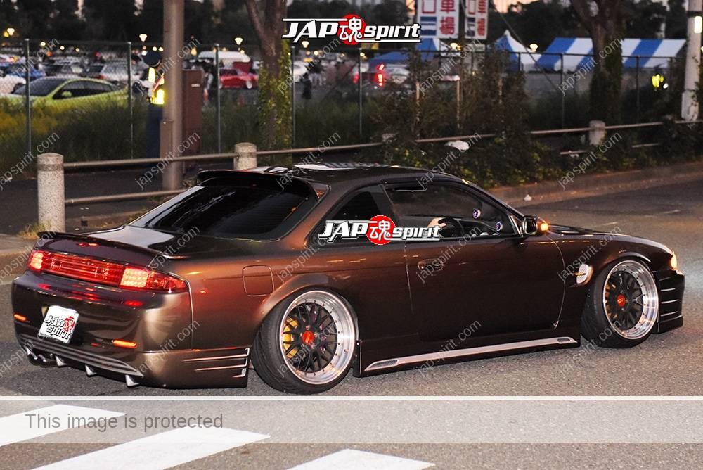 Stancenation 2016 Nissan Silvia S14 Hellaflush brown very low at odaiba 2