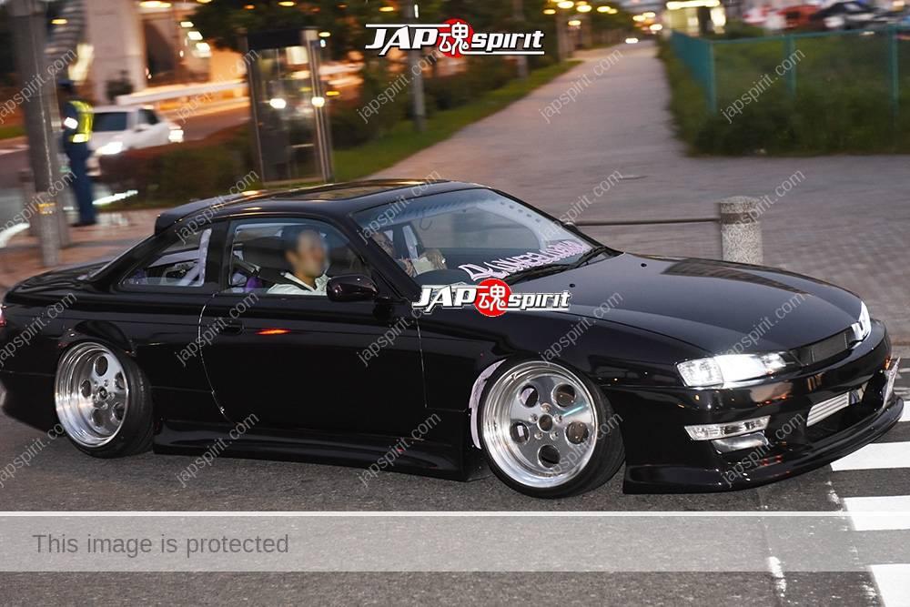 Stancenation 2016 Nissan Silvia S14 hellaflash hashiriya style black body at odaiba 1