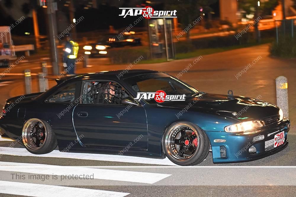 Stancenation 2016 Nissan Silvia S14 hellaflush blue green body at odaiba 1