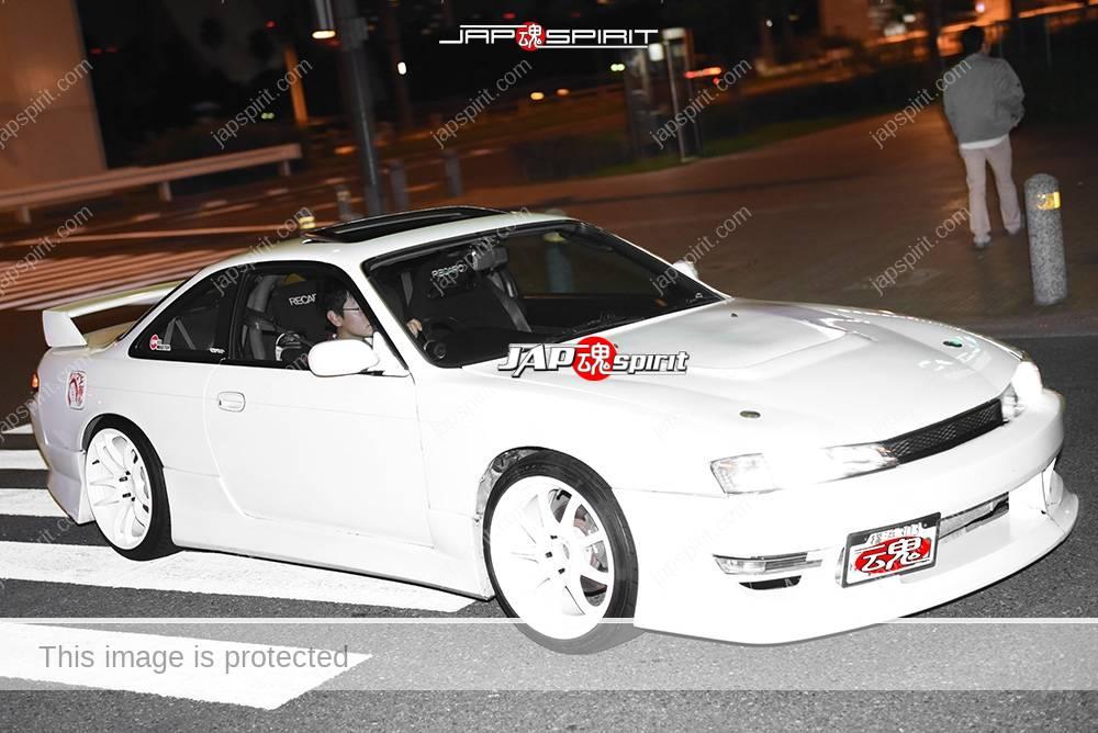 Photo of Stancenation 2016 Nissan Silvia S14 white body white wheel at odaiba