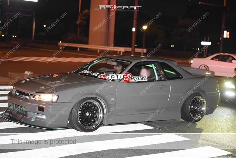 Stancenation 2016 Nissan Skyline R34 over fender grey color hellaflush at odaiba 1