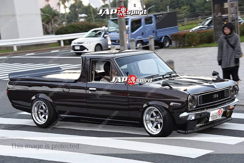 Photo of Stancenation 2016 Nissan Sunny truck B120 black body at odaiba