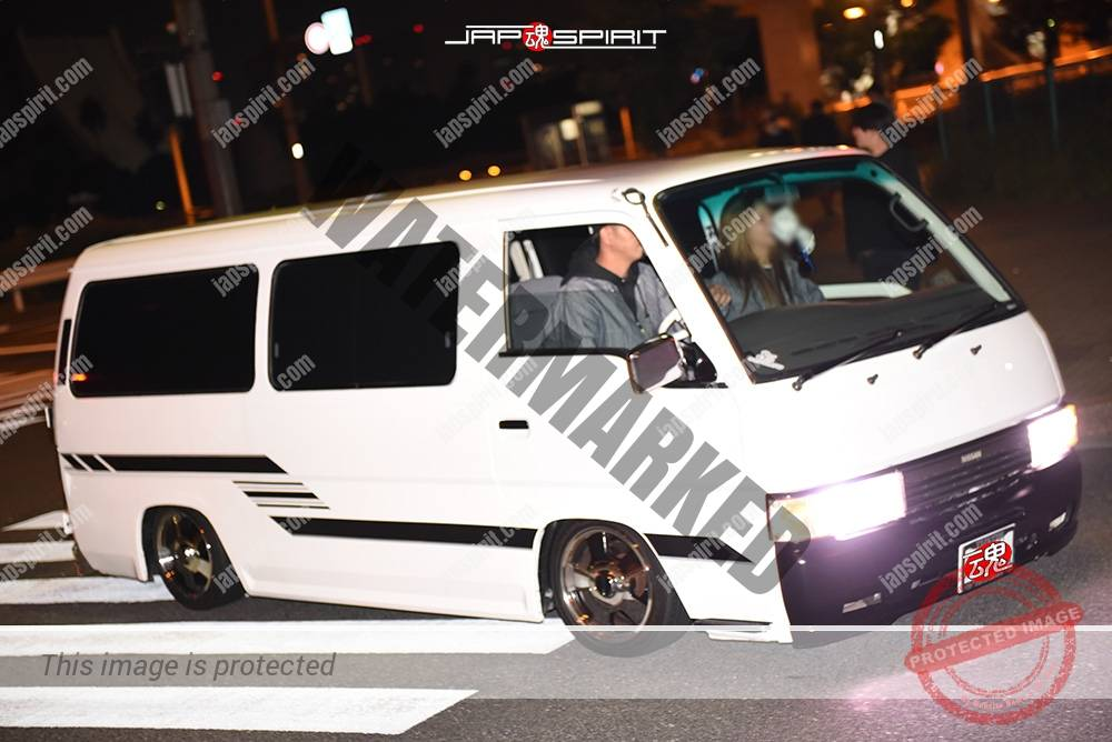 Photo of Stancenation 2016 Nissan caravan E24 hellaflush white color at odaiba