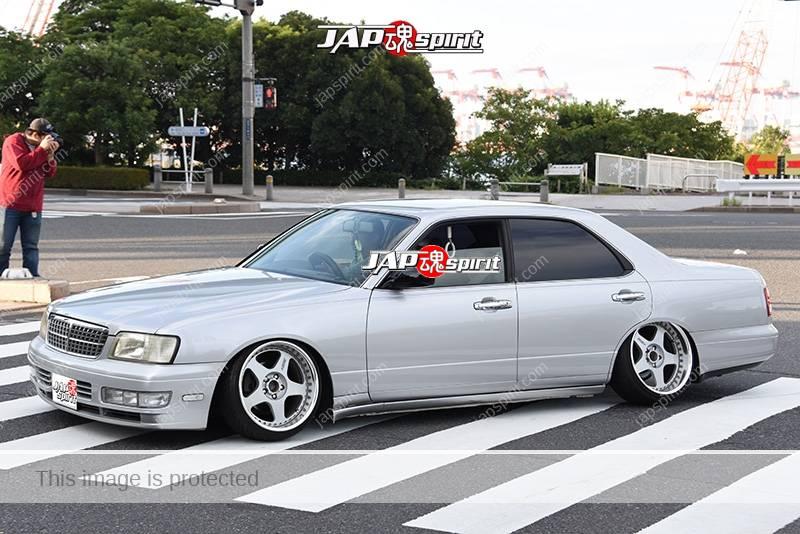 Photo of Stancenation 2016 Nissan cedric Y33 hellaflush VIP silver body tsurauchi at odaiba