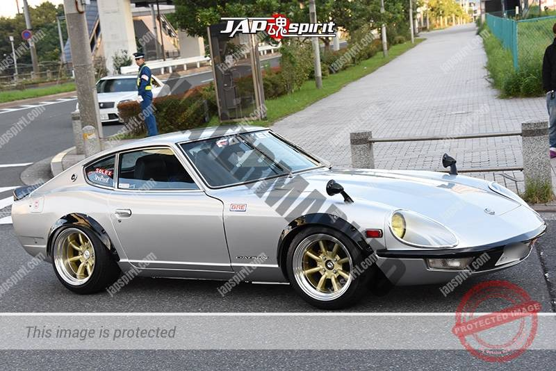 Photo of Stancenation 2016 Nissan fairlady Z S30 over fender silver body at odaiba